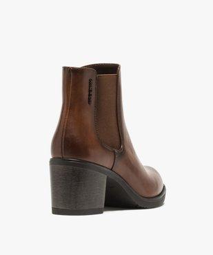 Boots femme unies à talon style chelsea – Tom Tailor vue4 - TOM TAILOR - GEMO