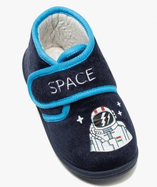 Chaussons garçon bottillons en velours ras astronaute vue5 - Nikesneakers C4G GARCON - Nikesneakers