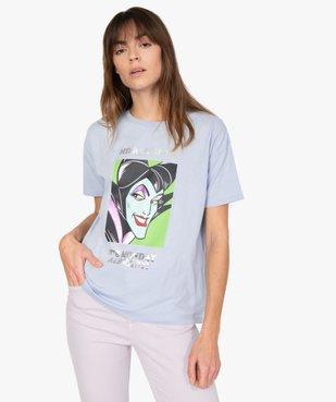 Tee-shirt femme à manches courtes avec message - Disney vue1 - DISNEY DTR - GEMO