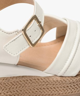 Sandales femme à talon compensé coupe spéciale pied large vue6 - GEMO(URBAIN) - GEMO
