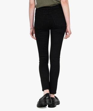 Jean femme skinny taille normale noir vue3 - GEMO(FEMME PAP) - GEMO