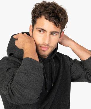 Sweat homme à capuche avec poche kangourou vue2 - GEMO (HOMME) - GEMO