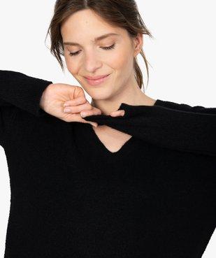 Pull femme col V en maille ultra douce vue2 - GEMO(FEMME PAP) - GEMO
