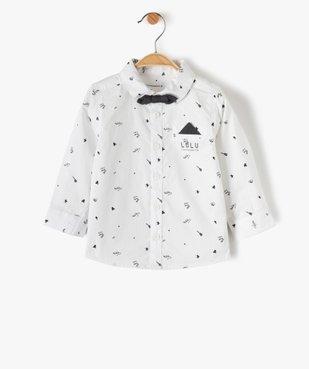 Chemise bébé garçon avec nœud papillon – Lulu Castagnette vue1 - LULUCASTAGNETTE - GEMO