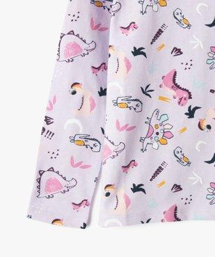 Pyjama fille avec motifs dinosaures vue2 - GEMO (ENFANT) - GEMO