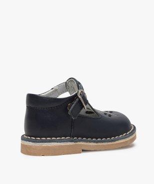 Chaussures bébé garçon ouvertes dessus et intérieur cuir vue4 - GEMO(BEBE DEBT) - GEMO