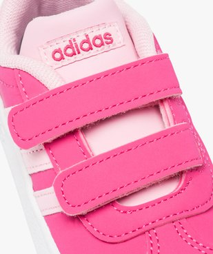 Basket bébé à scratchs bicolores doublée mesh - Adidas vue6 - ADIDAS - GEMO