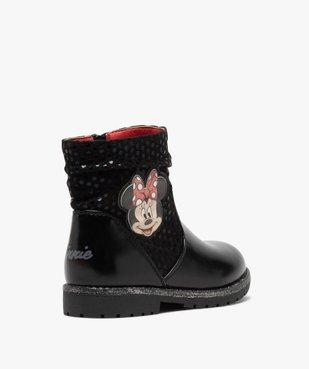 Boots fille à semelle crantée et finitions pailletées - Minnie  vue5 - MINNIE - GEMO