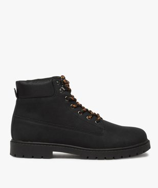 Boots homme à semelle crantée et lacets - Les Supaires à lacets bicolores vue1 - GEMO (CASUAL) - GEMO