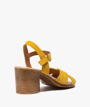 Sandales femme à talon carré coupe spéciale pied large vue4 - GEMO(URBAIN) - GEMO