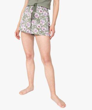 Bas de pyjama femme forme short à motifs fleuris vue1 - GEMO(HOMWR FEM) - GEMO