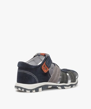 Sandales garçon en cuir bout fermé et fermeture scratch vue4 - Nikesneakers (ENFANT) - Nikesneakers