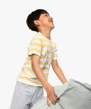 Pyjashort garçon avec haut rayé et motif dinosaure vue4 - GEMO (ENFANT) - GEMO