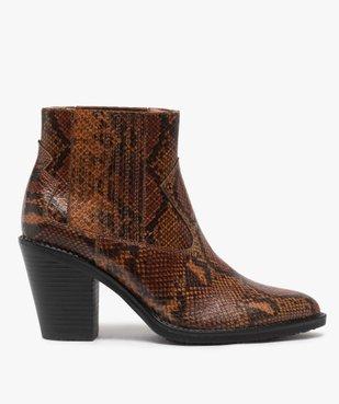 Boots femme style santiag à col élastiqué et bout pointu vue1 - Nikesneakers(URBAIN) - Nikesneakers
