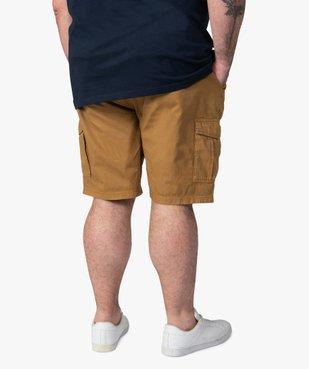 Bermuda homme en toile unie avec poche à rabat vue3 - GEMO (G TAILLE) - GEMO