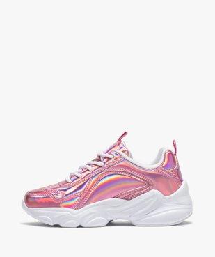 Chaussures de running fille irisées à lacets - Fila Alamo vue3 - FILA - Nikesneakers