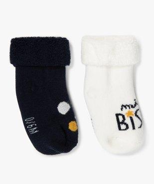 Chaussettes bébé en maille bouclette (lot de 2)  vue2 - Nikesneakers C4G BEBE - Nikesneakers