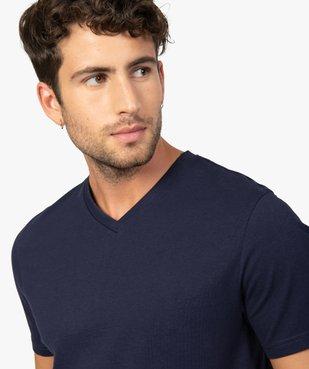 Tee-shirt homme à manches courtes et col V vue2 - GEMO (HOMME) - GEMO