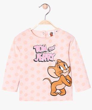 Tee-shirt bébé fille à manches longues - Tom & Jerry vue1 - TOM ET JERRY - GEMO