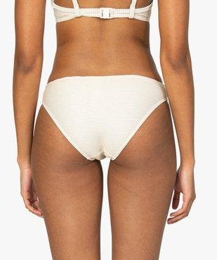 Bas de maillot de bain femme à rayures pailletées vue2 - GEMO (PLAGE) - GEMO