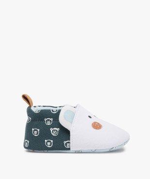 Chaussons de naissance bébé garçon imprimés tête d'ours vue1 - Nikesneakers(BB COUCHE) - Nikesneakers