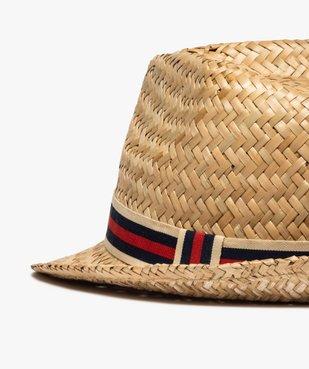 Chapeau homme en paille avec bande tricolore vue2 - GEMO (ACCESS) - GEMO