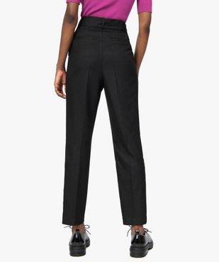 Pantalon femme en toile coupe carotte vue3 - GEMO(FEMME PAP) - GEMO