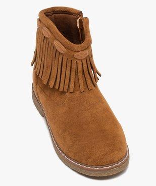Boots fille en suédine unie avec col à franges vue5 - GEMO (ENFANT) - GEMO