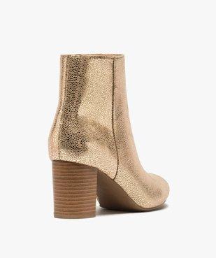 Boots femme à talon carré dessus métallisé vue4 - Nikesneakers(URBAIN) - Nikesneakers