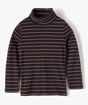 Tee-shirt garçon rayé à manches longues et col montant vue1 - Nikesneakers (ENFANT) - Nikesneakers