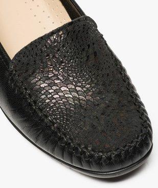Mocassins confort femme dessus cuir souple vue6 - GEMO (CONFORT) - GEMO