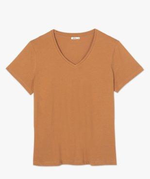 Tee-shirt femme à manches courtes et col V vue4 - GEMO (G TAILLE) - GEMO