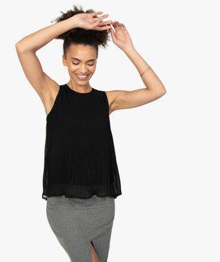 Chemise femme plissée sans manches avec dentelle vue1 - GEMO(FEMME PAP) - GEMO