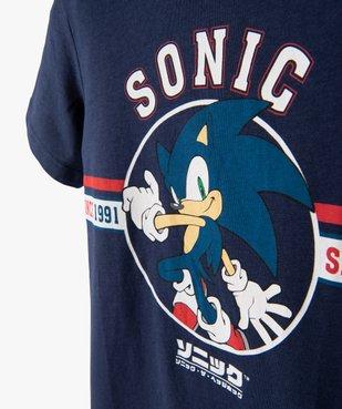 Tee-shirt garçon à manches courtes avec motif – Sonic vue2 - SONIC - GEMO
