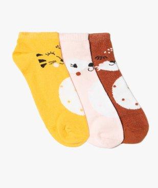 Chaussettes fille ultra-courtes motif animaux (lot de 3) vue1 - GEMO (ENFANT) - GEMO