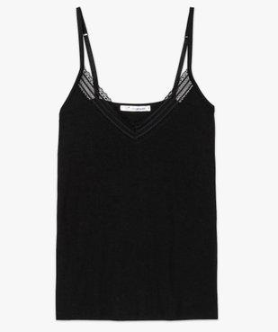Haut de pyjama femme à fines bretelles et dentelle vue4 - Nikesneakers(HOMWR FEM) - Nikesneakers