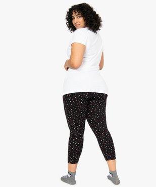Pyjama femme à imprimé cœurs - Betty Boop vue3 - BETTY BOOP - GEMO