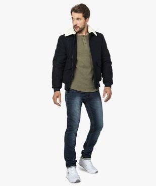 Blouson homme  laine avec col   amovible vue6 - GEMO (HOMME) - GEMO