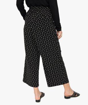 Pantacourt femme imprimé coupe ample avec taille élastiquée vue3 - GEMO(FEMME PAP) - GEMO