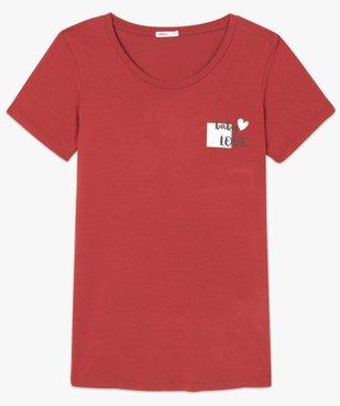 Tee-shirt de grossesse avec inscription vue4 - GEMO (MATER) - GEMO