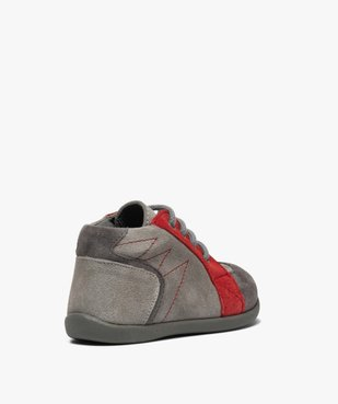 Chaussures premiers pas bébé garçon en cuir vue4 - GEMO(BEBE DEBT) - GEMO