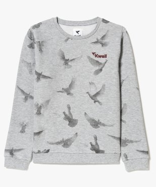 Sweat fille molletonné avec motifs colombes - Kwell vue2 - KWELL - GEMO