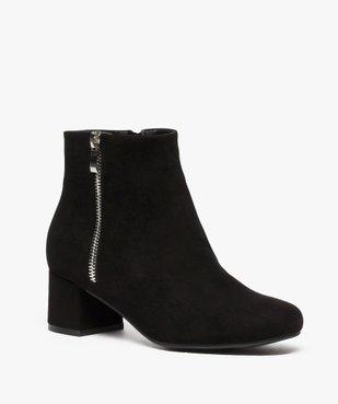 Boots femme à petit talon avec zip décoratif sur le côté vue2 - GEMO(URBAIN) - GEMO