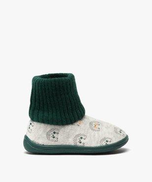 Chaussons bébé garçon boots en maille et velours vue1 - GEMO C4G BEBE - GEMO
