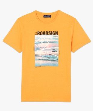 Tee-shirt homme à manches courtes imprimé nature - Roadsign vue4 - ROADSIGN - GEMO