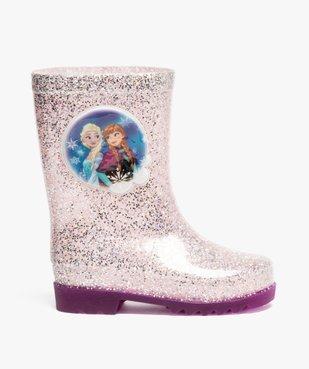 Bottes de pluie fille à paillettes avec semelle lumineuse Reine des neiges vue1 - REINE DES NEIGE - GEMO