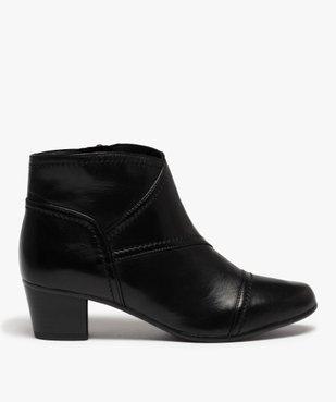 Boots femme à talon dessus cuir uni vue1 - GEMO(URBAIN) - GEMO