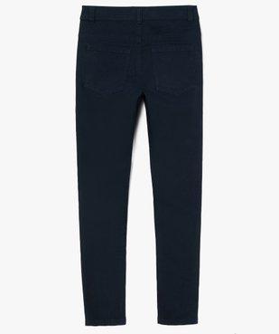 Pantalon garçon coupe skinny en toile extensible vue4 - GEMO (JUNIOR) - GEMO