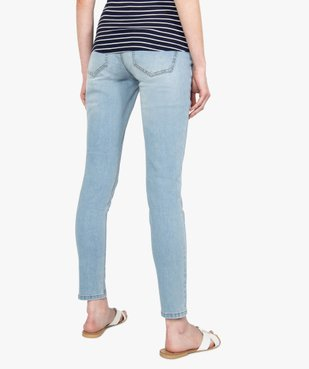 Jean de grossesse slim 4 poches avec bandeau jersey vue3 - GEMO (MATER) - GEMO