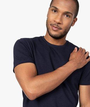 Tee-shirt homme 100% coton biologique en maille texturée vue1 - GEMO (HOMME) - GEMO